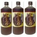 堤酒造 焼酎蔵の発酵 黒豆力 プレミアム発酵 黒大豆搾り 720ml   3 本
