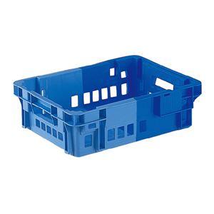 (業務用10個セット)三甲(サンコー) SNコンテナ/2色コンテナボックス 【Cタイプ】 #11CP ブルー×ライトブルー