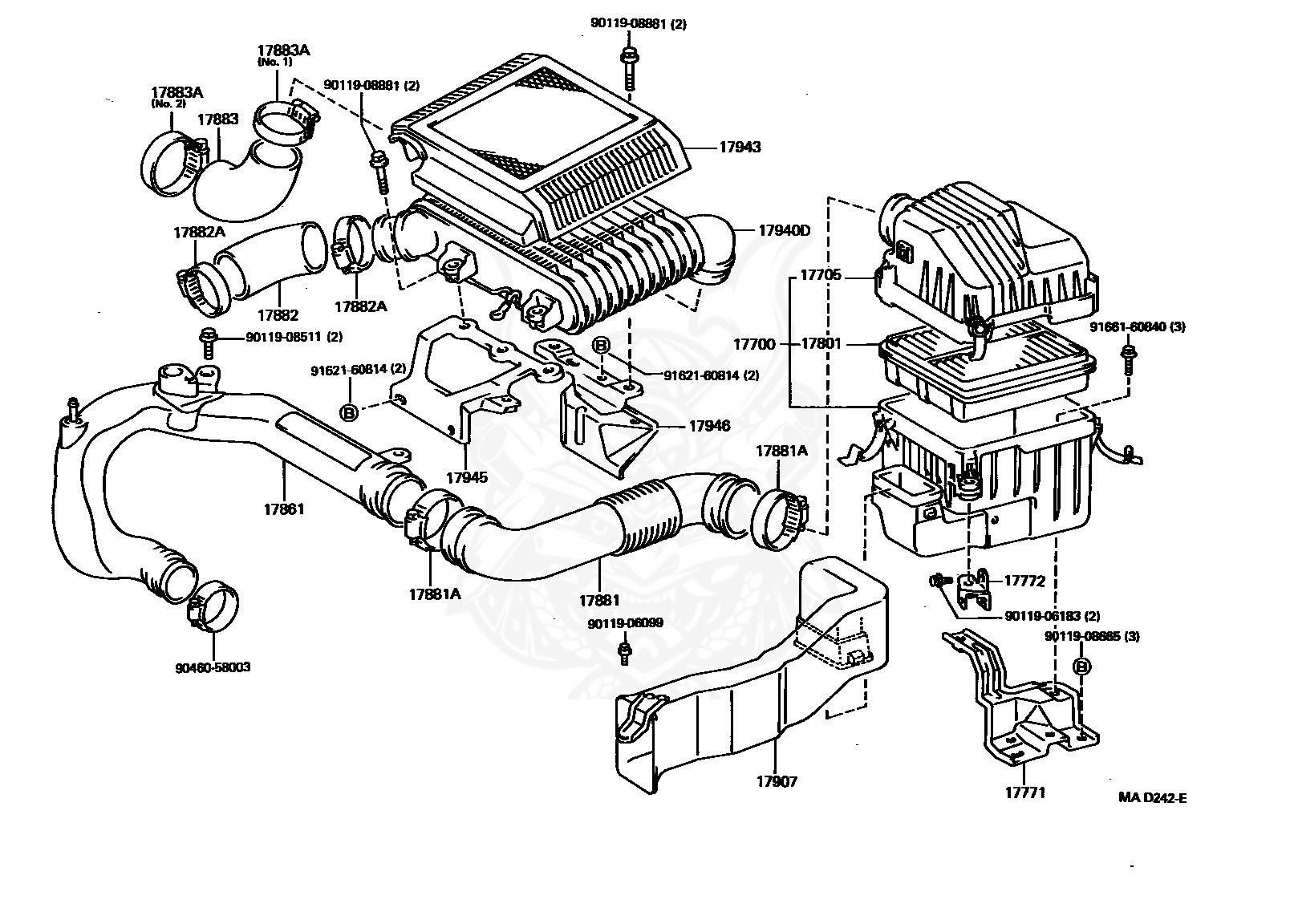 Toyotum Engine Intake Diagram