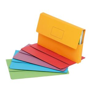 Marbig Slimpick 4004399 Document Wallets Brights Assorted Pack 10     Marbig Slimpick 4004399 Document Wallets Brights Assorted Pack 10