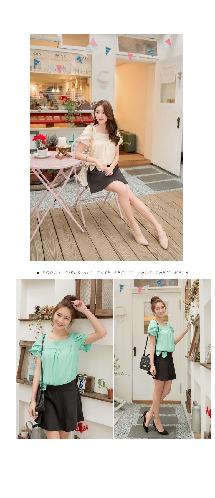 服裝推薦OB嚴選-0401新品 姣好風尚~方領蝴蝶結裝飾縮腰撞色洋裝.2色 @ hawkinsan81的部落格 :: 痞客邦