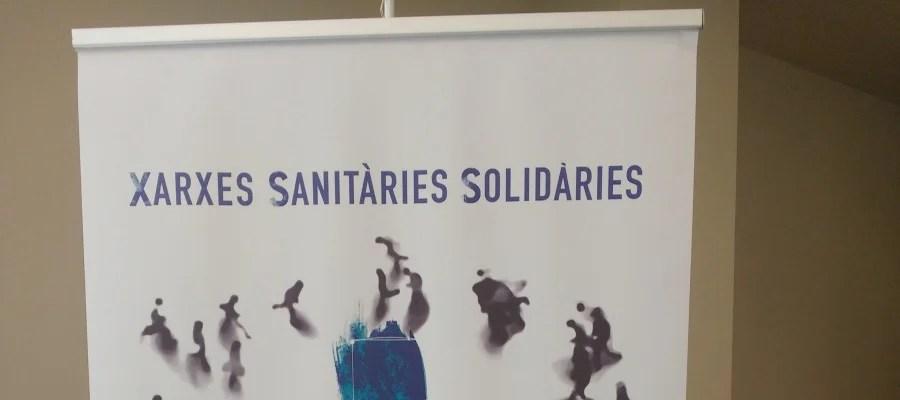 Cartel promocional de les Xarxes Sanitàries Solidàries