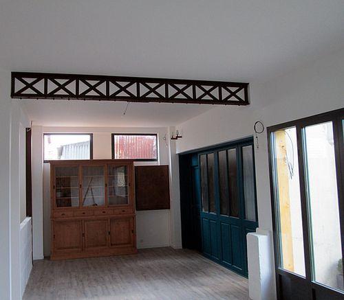 poutres decoratives industrielle meuble