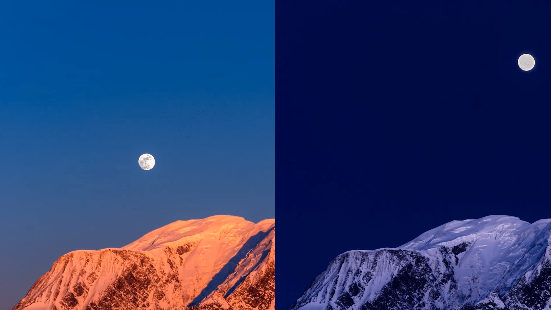 The Moon In The Day And Night Sky