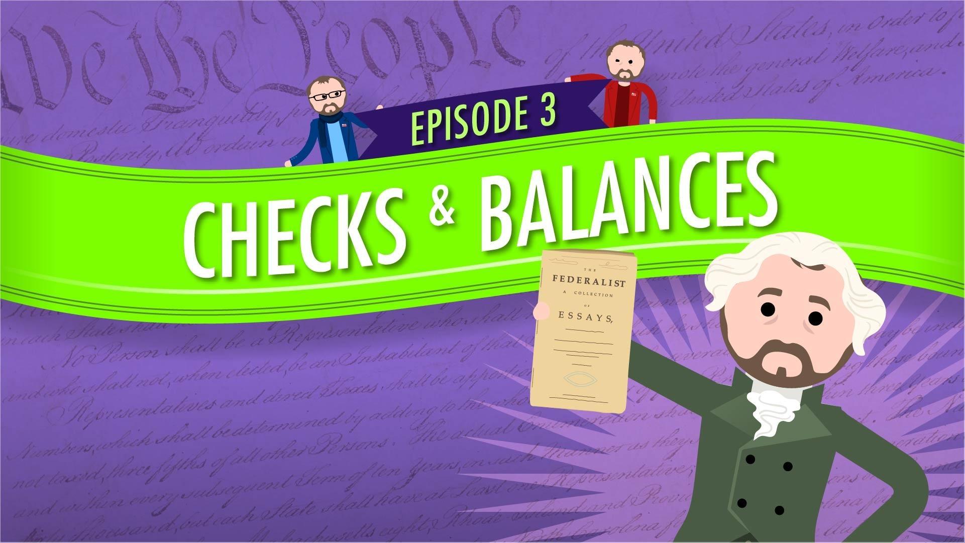 Checks And Balances Crash Course Government 3