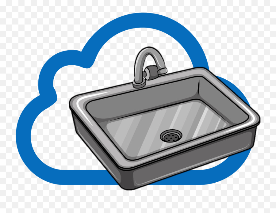 a clean kitchen sink vector png