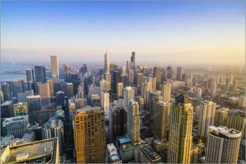 premium poster chicago skyline