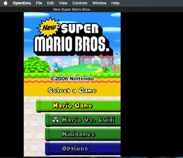 Open Emu NDS Emulator for Mac OS X