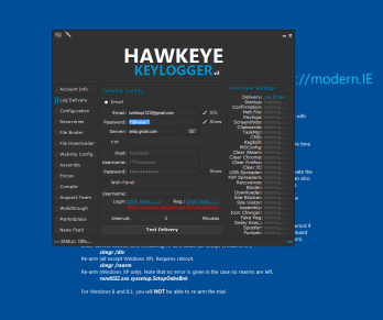 Hawk Eye Keylogger-Cracked
