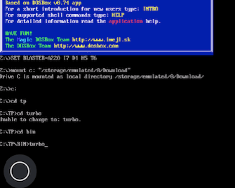 Commands to Open Turbo Pascal on Dosbox Black Screen