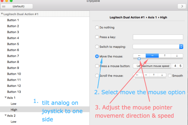 Configuring mouse using Analog input Enjoyable on Mac OS X