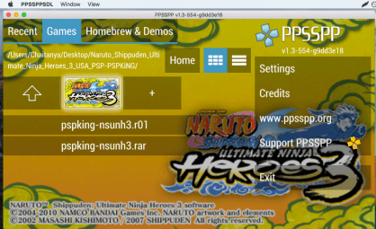 PPSSPP PSP Emulator for Mac OS X