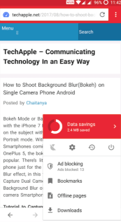 Opera Mini with Adblock Inbuilt
