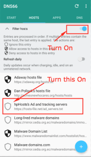 Turn On hp Hosts Ad & Tracking Server