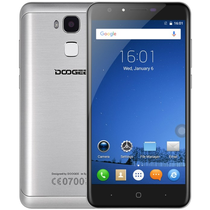 "DOOGEE Y6C Android 6.0 4G Smartphone Unlocked 5.5"" 2GB+16GB Quad Core SW 13.0MP"