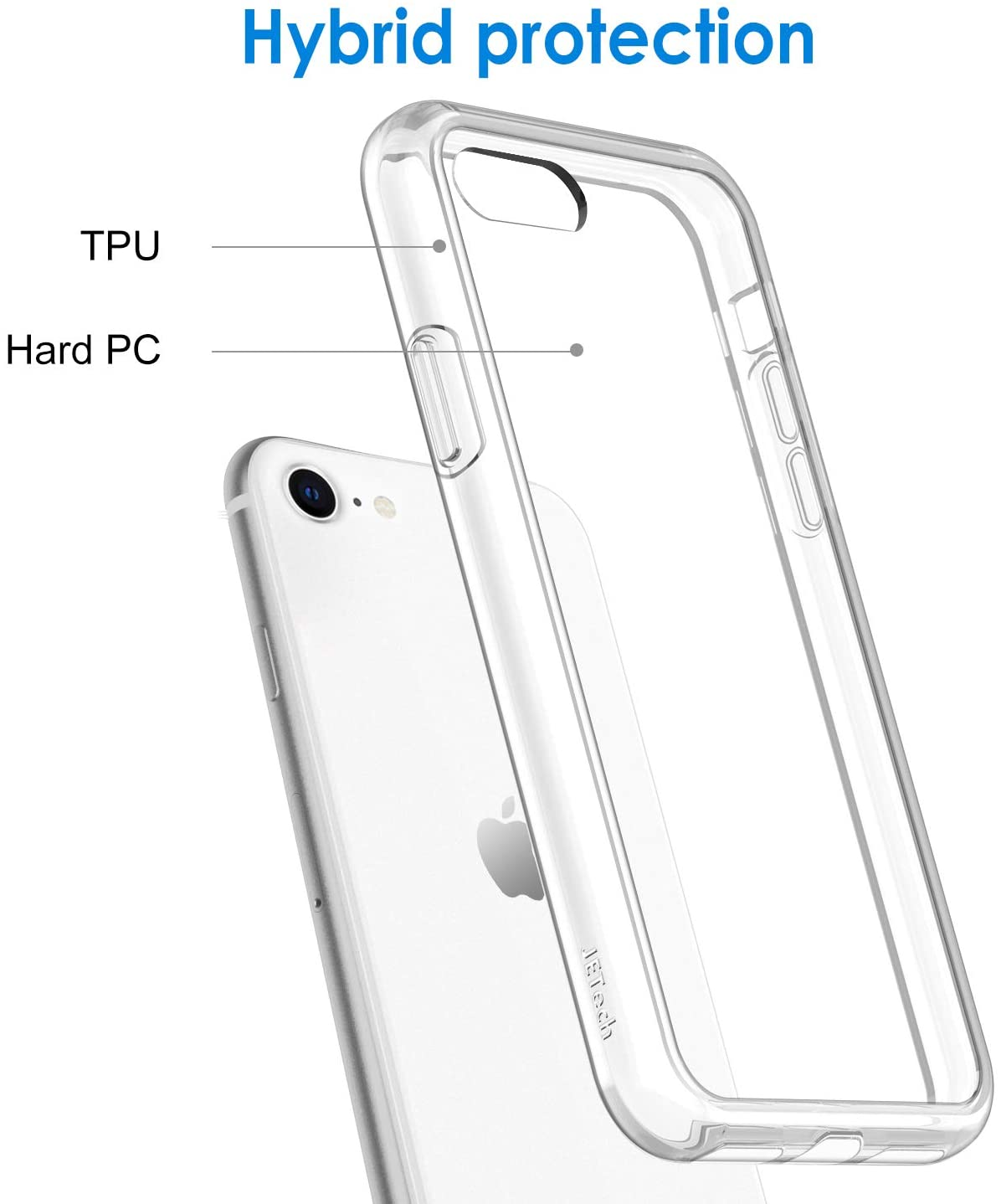 For Iphone Se 8 7 Clear Case Shockproof Bumper Ultra