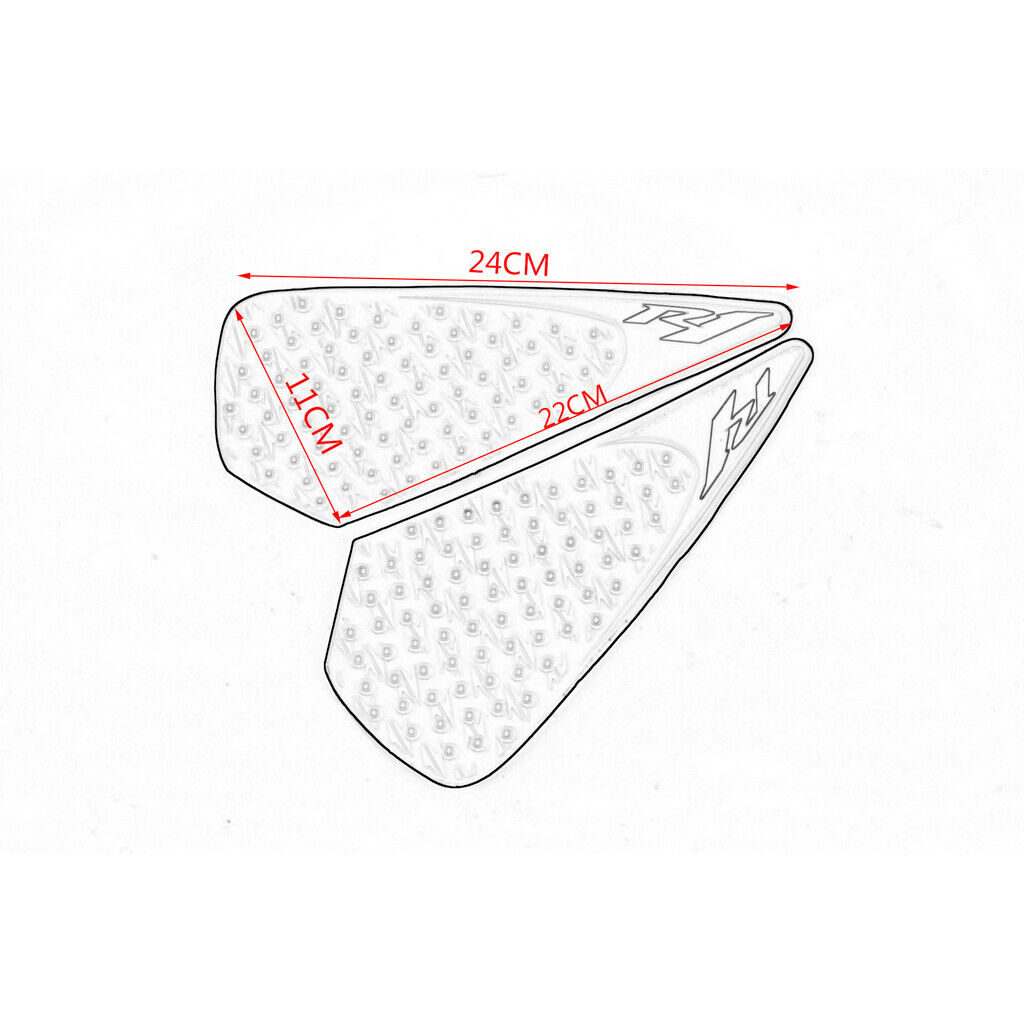 Tank Pad Sticker Knee Grip Traction Side Protector For