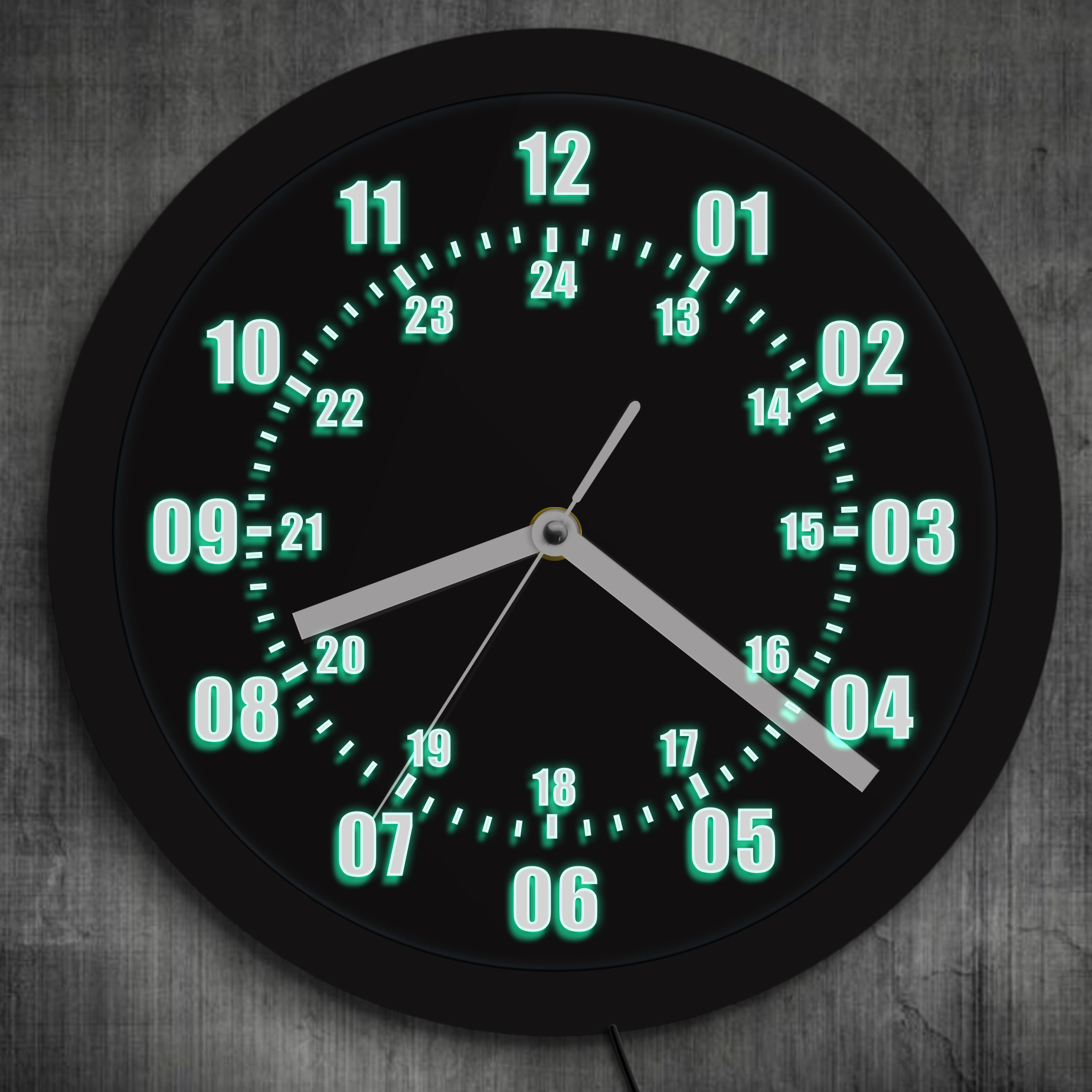 Military Time 24 Hours Led Wall Clock Military World Time