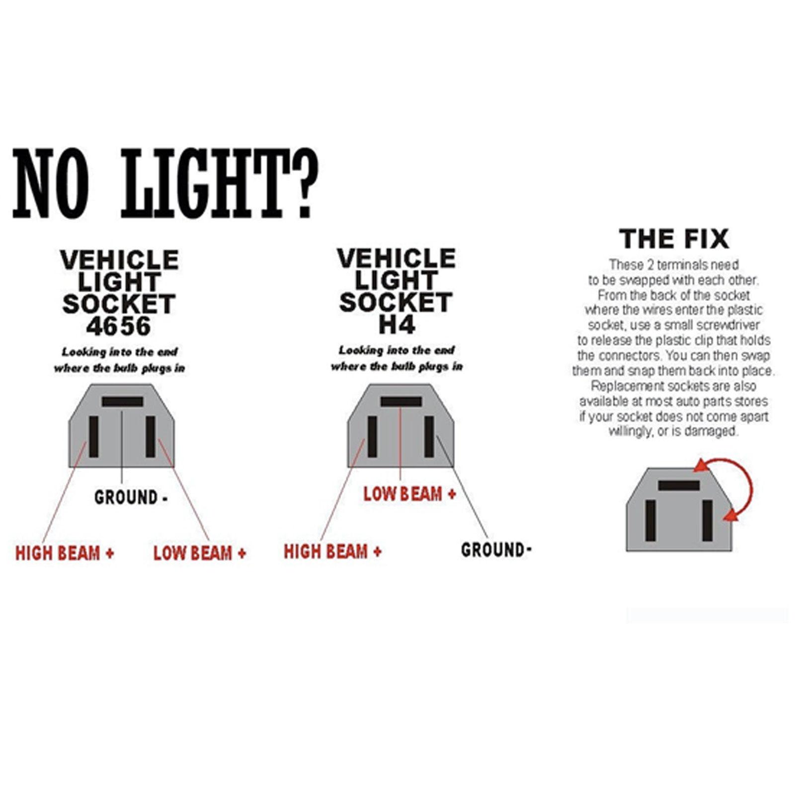 4x6 Led Hi L Sealed Beam Headlight For Chevy Camaro Gmc