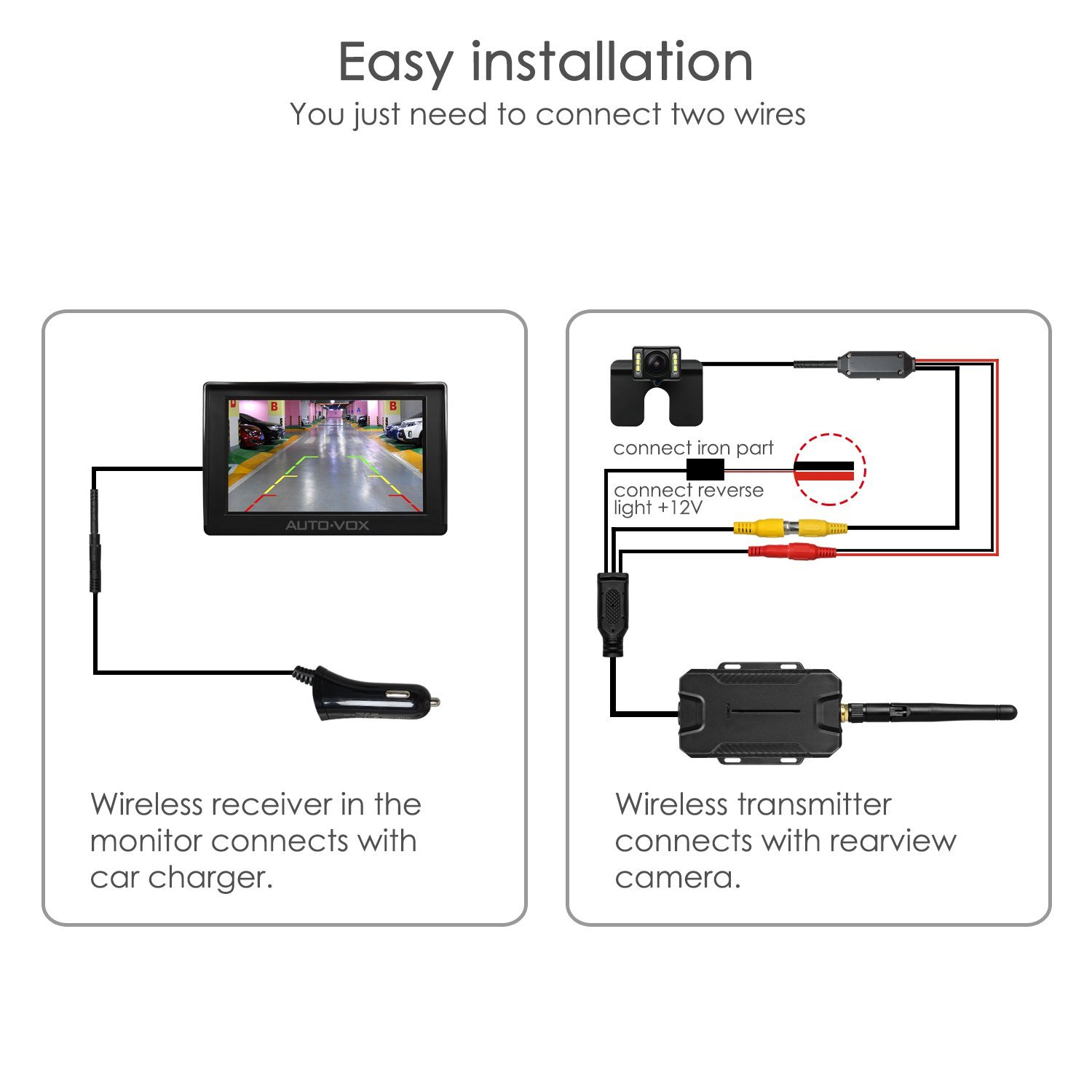 Wireless Car Reversing System 4 3 Lcd Monitor Rear View