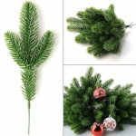 10x Artificial Plants Pine Branches Christmas Garland Diy Xmas Party Decorations Ebay