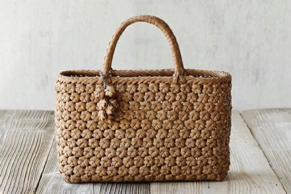 花編みやまぶどう籠(横長/中サイズ)