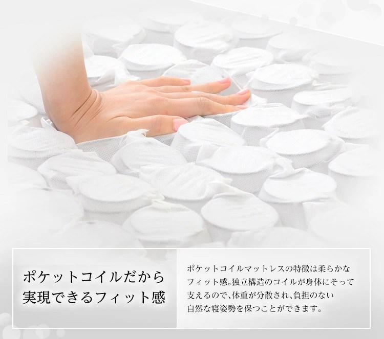ロール梱包片面仕様ポケットコイルマットレス【Sheera-シェエラ-】