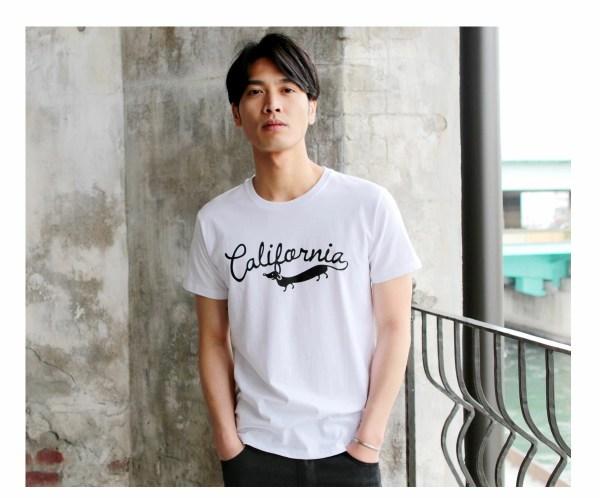 Tシャツ メンズ「California」J柄