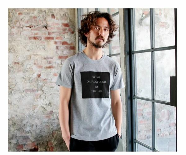 Tシャツ メンズ「HOLIDAY CALIF. USA SINCE 1976」K柄