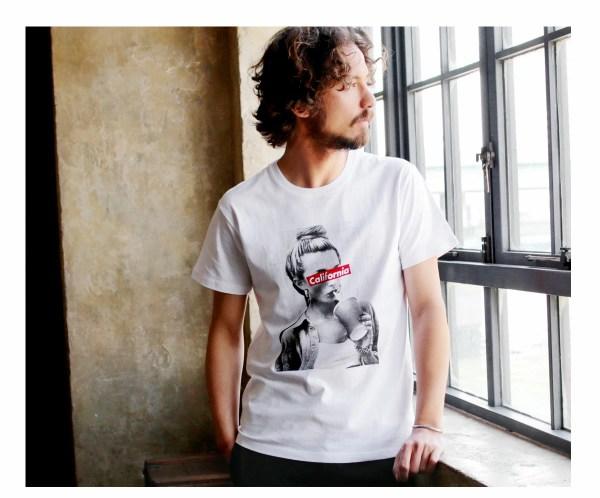 Tシャツ メンズ「California」Q柄