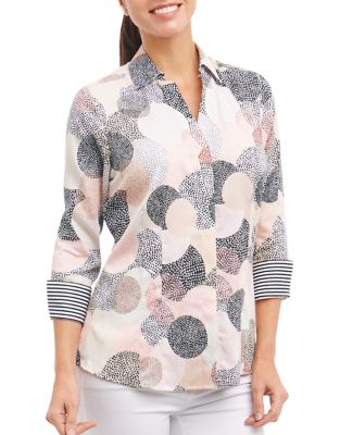 Taylor Cotton Long-Sleeve Top