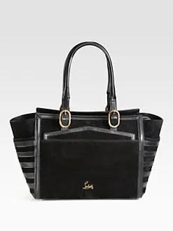 Christian Louboutin - Farida Mixed-Media Top Handle Bag