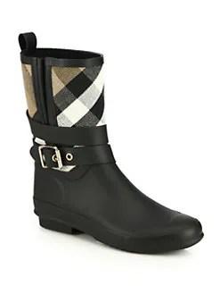 Burberry - Holloway Canvas Rain Boots