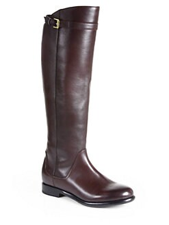 Giorgio Armani - Leather Knee-High Riding Boots