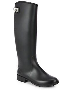 Salvatore Ferragamo - Ruben Rubber Rain Boots