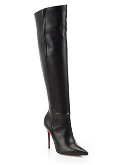 Christian Louboutin - Armurabotta 100 Leather Over-The-Knee Boots