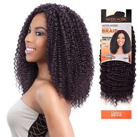 modelmodel synthetic hair crochet braids glance brazilian curl 12 samsbeauty