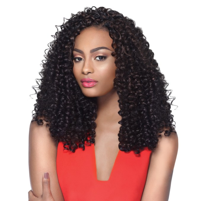 outre synthetic hair crochet braids x-pression braid 4 in 1 loop bohemian  curl 14""