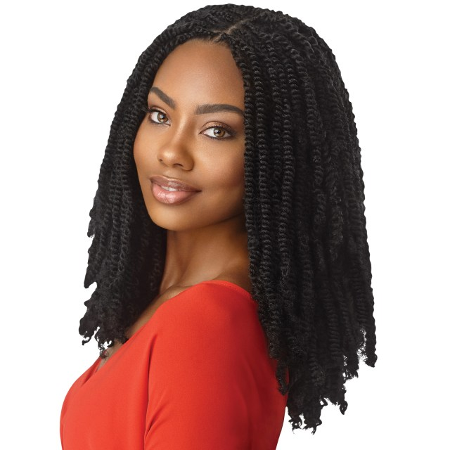 outre synthetic hair crochet braids x-pression twisted up springy afro twist 16""