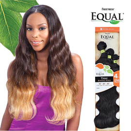 freetress equal synthetic hair weave thai bundle wave 4pcs samsbeauty
