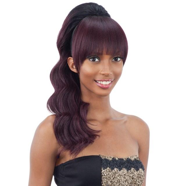 freetress equal synthetic hair ponytail & china bang loose deep 2pcs