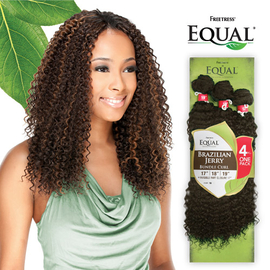 freetress equal synthetic hair weave brazilian jerry bundle curl 4pcs samsbeauty