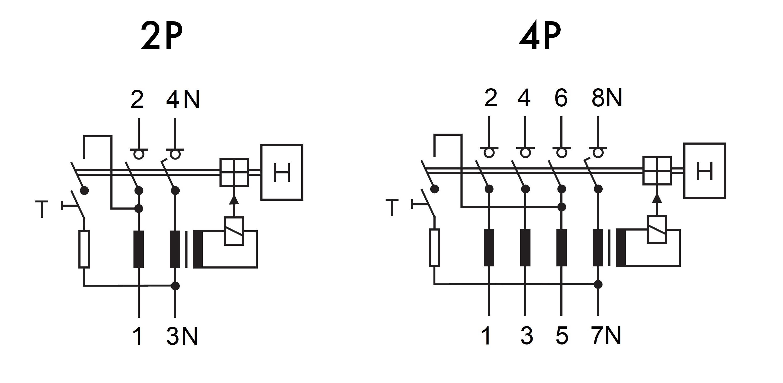 Schaltplan Fi Schalter Anschliessen 2 Polig