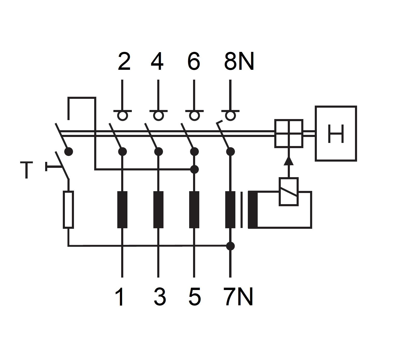 Schaltplan Fi Schalter 2 Polig