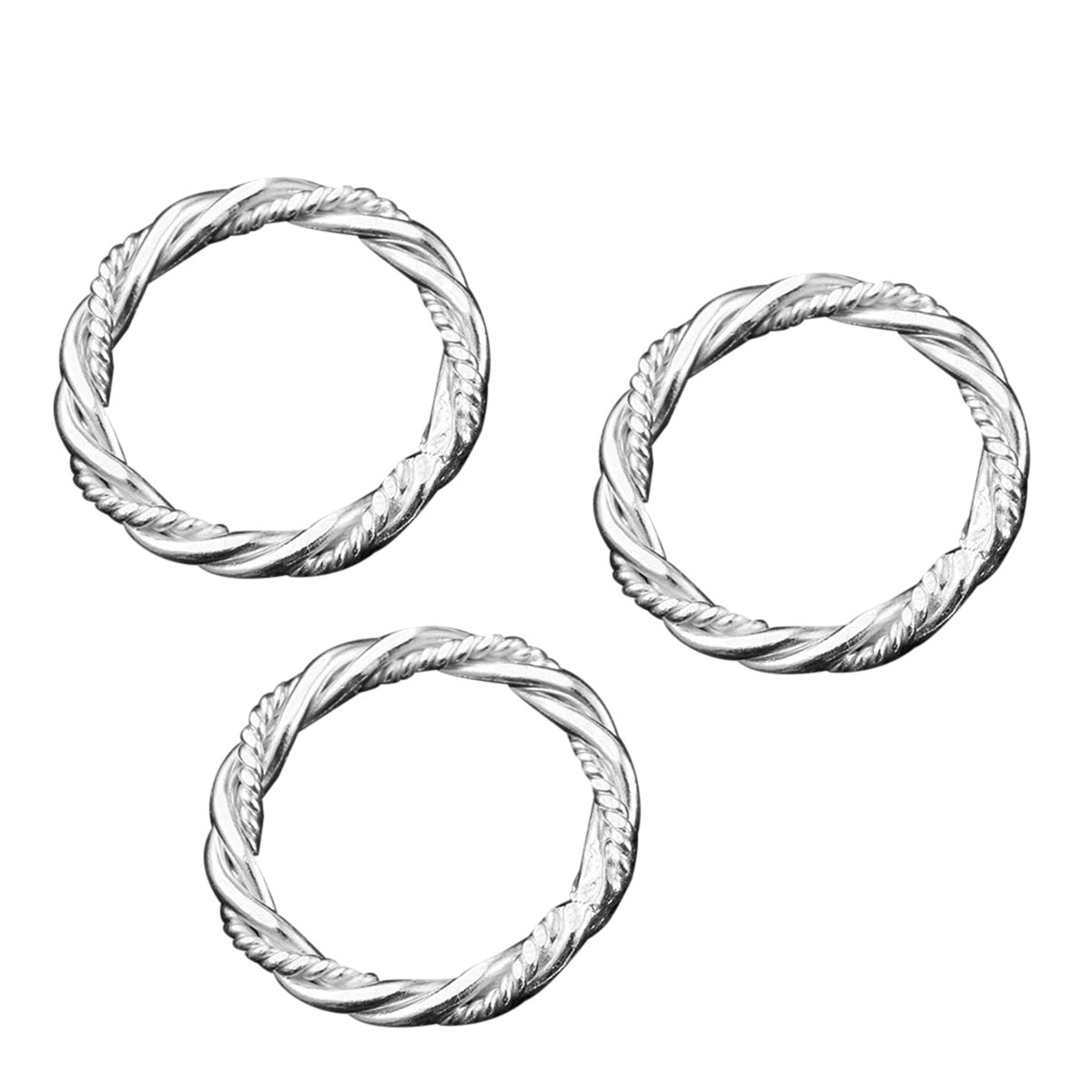 Jewelry Lc Diy 925 Sterling Silvertone Twisted Wire Jump