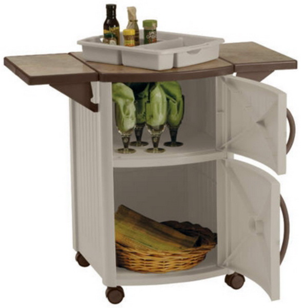 New Rolling Outdoor Serving Station Cabinet BBQ Patio ... on Patio Grill Station id=24121