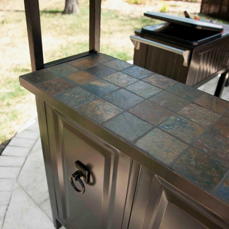 New Large Steel Frame Grill Gazebo Outdoor Bar Vented Hard ... on Best Backyard Bars id=92950