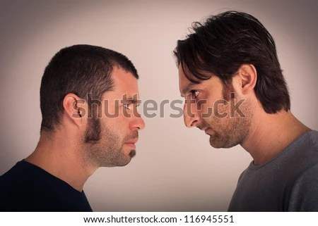 angry men - stock photo