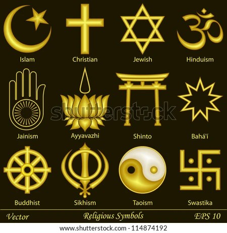 Religious Symbols - stock vector