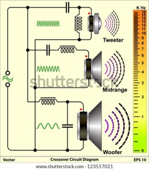 Speaker Crossovers  Circuit Diagram Stock Vector